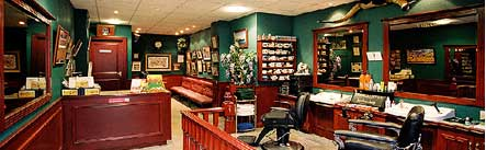 Streaming video webcam in a Glasgow barbershop