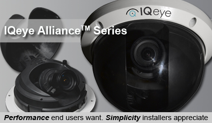 IQ Alliance range of H264 megapixel CCTV cameras for security surveillance