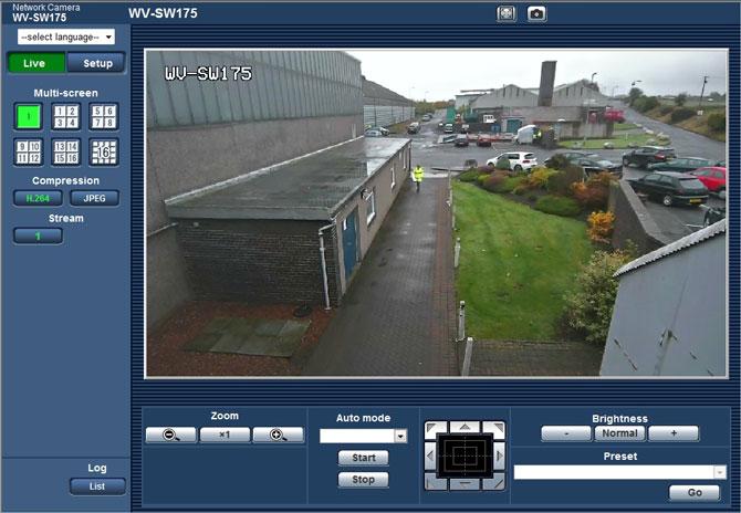 WV-SW175 GUI interface