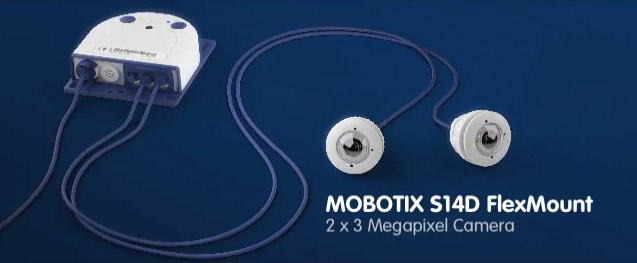 Mobotix S14D IP camera with FlexMount