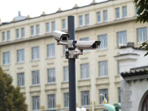 CCTV cameras on pole