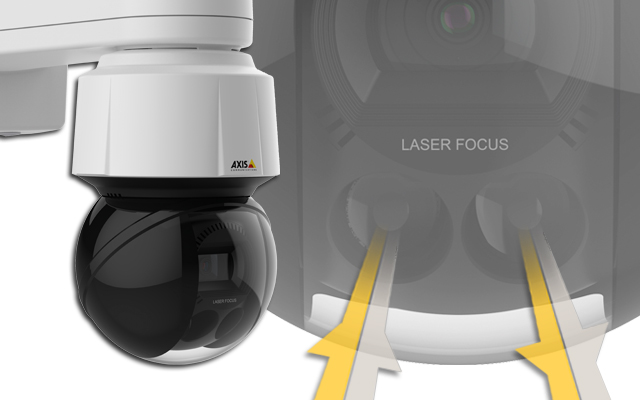 Axis Q6155-E laser focus technologyu