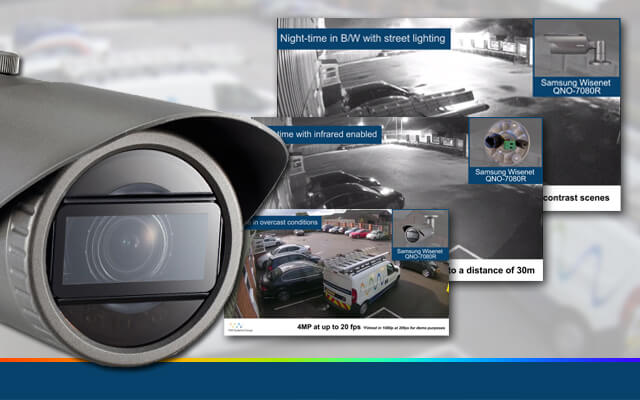 new demo video for the Samsung Wisenet QNO-7080R bullet IP camera