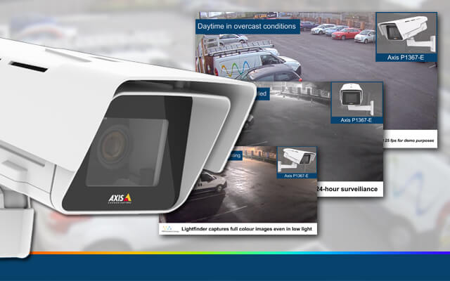 New demo video for the Axis P1367-E IP camera