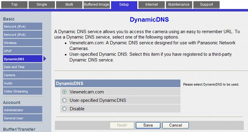 HOWTO: Dynamic DNS with Panasonic's Viewnetcam com Network Webcams blog