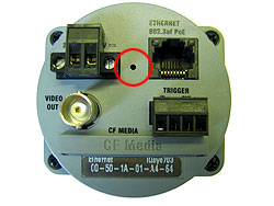 IQeye 700 series camera reset button location