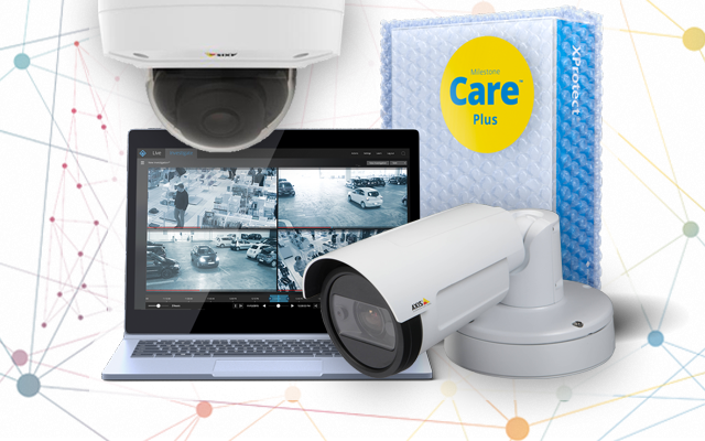 Axis P14 & P32 cameras with XProtect Express+ with Care Plus