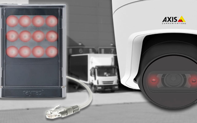 IP camera with inbuild IR and an external illuminator