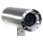 Axis ExCam XF P1367 stainless steel ATEX-Certified IP camera with 5MP resolution, i-CS lens, Lightfinder and PoE