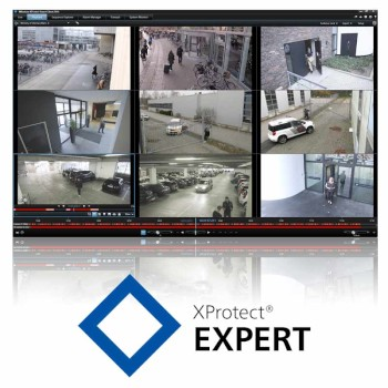 Milestone XProtect Expert video surveillance software, base licence, unlimited number of cameras