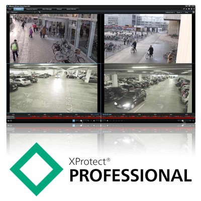 Milestone Husky XProtect Professional additional device licence 4 pack for M20, M30 and M50