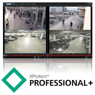 Milestone XProtect Professional+ video management software, camera licence