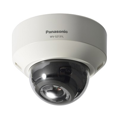 Panasonic WV-S2131L indoor Super Dynamic dome IP camera with HD 1080p resolution, 30m of IR, SD storage and PoE