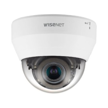 Wisenet QND-6082R indoor dome IP camera with 2MP resolution, varifocal lens, up to 20m IR and built-in microphone