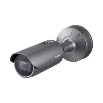 Wisenet XNO-6080R outdoor bullet IP camera with 2MP resolution, varifocal lens, up to 50m IR and dual SD card storage