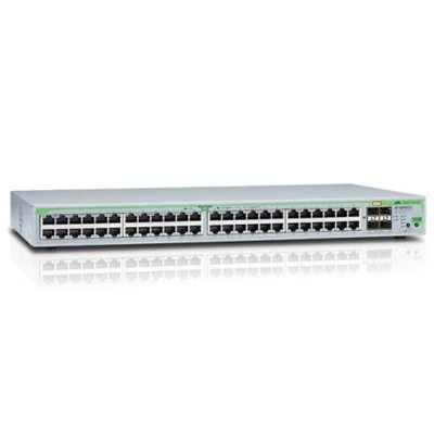 Allied Telesis AT-FS750/52 WebSmart switch with 48 x 10/100TX ports, 2 x 10/100/1000T ports and 2 x SFP/1000T combo ports