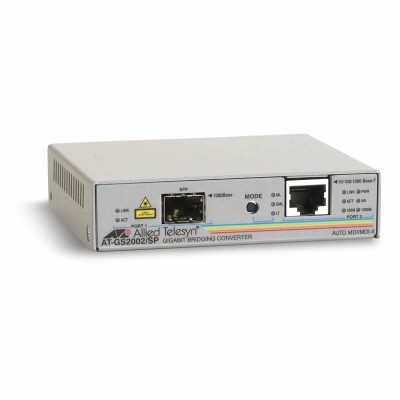 Allied Telesis AT-GS2002/SP Gigabit Ethernet to fiber SFP standalone media and rate converter