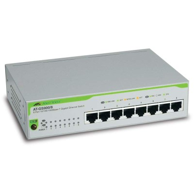Allied Telesis AT-GS900/8 10/100/1000T x 8 ports unmanaged Gigabit switch