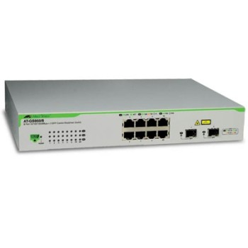 Allied Telesis AT-GS950/8POE 8 port WebSmart switch with 2 combo SFP ports