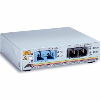 Allied Telesis AT-MC104XL 100FX (SC) MMF to 100FX (SC) SM 15km media converter