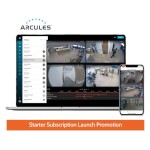 Arcules Cloud CCTV Starter Subscription Launch Promo - 6 ch, HD 1080p, 30 days, incl. ARC2 Gateway - quarterly charge