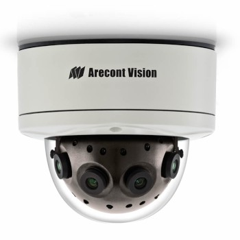 Arecont Vision SurroundVideo AV12186DN outdoor dome IP camera with 12 megapixel at 5.2 fps, 180° view, WDR and PoE