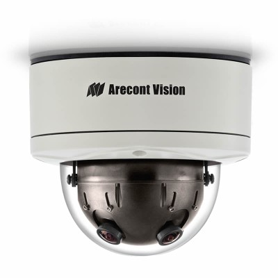 Arecont Vision SurroundVideo AV12366DN outdoor dome IP camera with 12 megapixel at 5.2 fps, 360° view, WDR and PoE