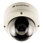 Arecont Vision AV3155DN Outdoor 3 megapixel at 15 fps IP CCTV camera for day and night, varifocal lens, H.264 and PoE