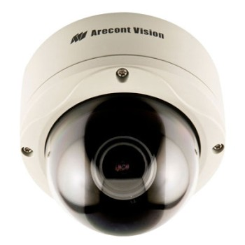 Arecont Vision AV1355DN Outdoor 1.3 megapixel at 32 fps IP CCTV camera for day and night, varifocal lens, H.264 and PoE