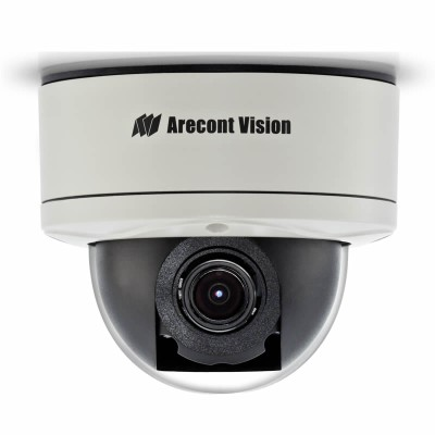 Arecont Vision MegaDome2 AV5255 outdoor vandal-resistant IP dome camera with 5 megapixel at 14fps, true day/night & PoE