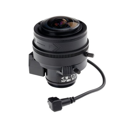Axis 5800-781 varifocal 2.2 - 6mm wide angle lens, IR-corrected with CS-mount and DC-iris