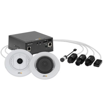 Axis F41 rugged main unit for use with 1 Axis F series sensor module, with HD 1080p (60 fps), I/O, edge storage and PoE