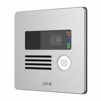 Axis I8016-LVE outdoor-ready network video intercom with 5MP resolution, two-way audio, up to 5m IR & PoE