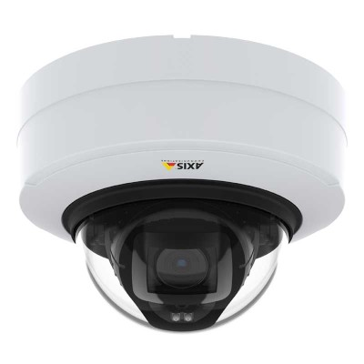 Axis P3247-LV indoor vandal-resistant IP camera with 5MP, up to 40m OptimisedIR, Lightfinder 2.0, Forensic WDR & PoE