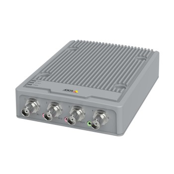 Axis P7304 video encoder with 4 channels, Axis Zipstream, HD analogue support, edge storage and PoE