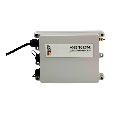 Axis T8123-E outdoor-ready PoE+ midspan 30W 802.3at, 1-port