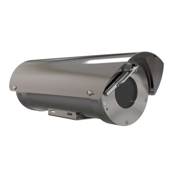 Axis XF40-Q1765 stainless steel ATEX-Certified IP camera with HD 1080p resolution, 18x optical zoom, WDR & edge storage