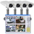 Axis 210 Surveillance Kit - 4 cameras and Axis Camera Station recording software