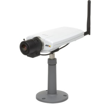 Axis 211W wireless indoor/outdoor, fixed lens IP camera with built-in motion detection, two-way audio, PoE