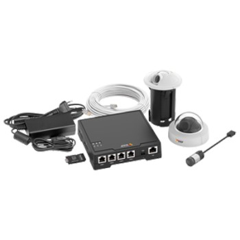 Axis F34 Surveillance System - 4 Axis F1004 sensors HD 720p resolution, optional mounting choices and Axis F34 main unit