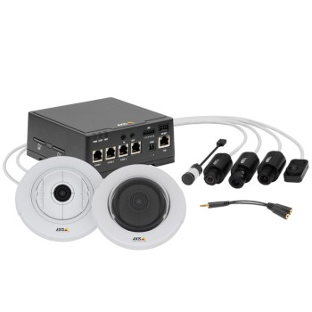 Axis F44 dual audio input main unit for use with up to 4 Axis F series sensor modules, full HD 720p, I/O and edge storage
