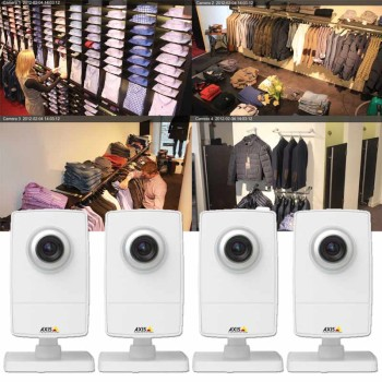 Axis M1014 Surveillance Kit - 4 Axis M1014 HD 720p IP cameras and Axis Companion software