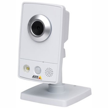 Axis M1031-W wireless indoor network camera with integrated light, two-way audio, H.264