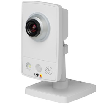 Axis M1033-W indoor wireless IP camera with integrated audio, PIR, white-light LED, WPS support