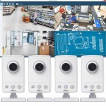 Axis M1054 Surveillance Kit - 4 Axis M1054 HD 720p IP cameras and Axis Camera Station recording software