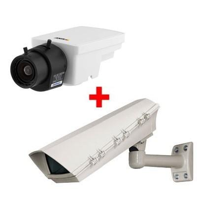 Axis M1113 outdoor POE bundle, compact, varifocal DC-iris lens IP security camera with H.264