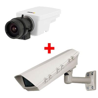 Axis M1114 outdoor POE bundle, HD 720p, varifocal DC-Iris lens IP surveillance camera with H.264, PoE