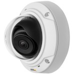 Axis M3006-V indoor vandal-resistant mini-dome IP camera with 3MP resolution, wide field of view and MicroSD recording