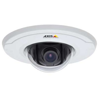 Axis M3011 indoor, ultra-compact, fixed IP dome camera with H.264, includes PoE midspan