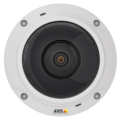 Axis M3027-PVE vandal-resistant outdoor 5 megapixel IP camera with full 180° / 360° view, digital PTZ and PoE